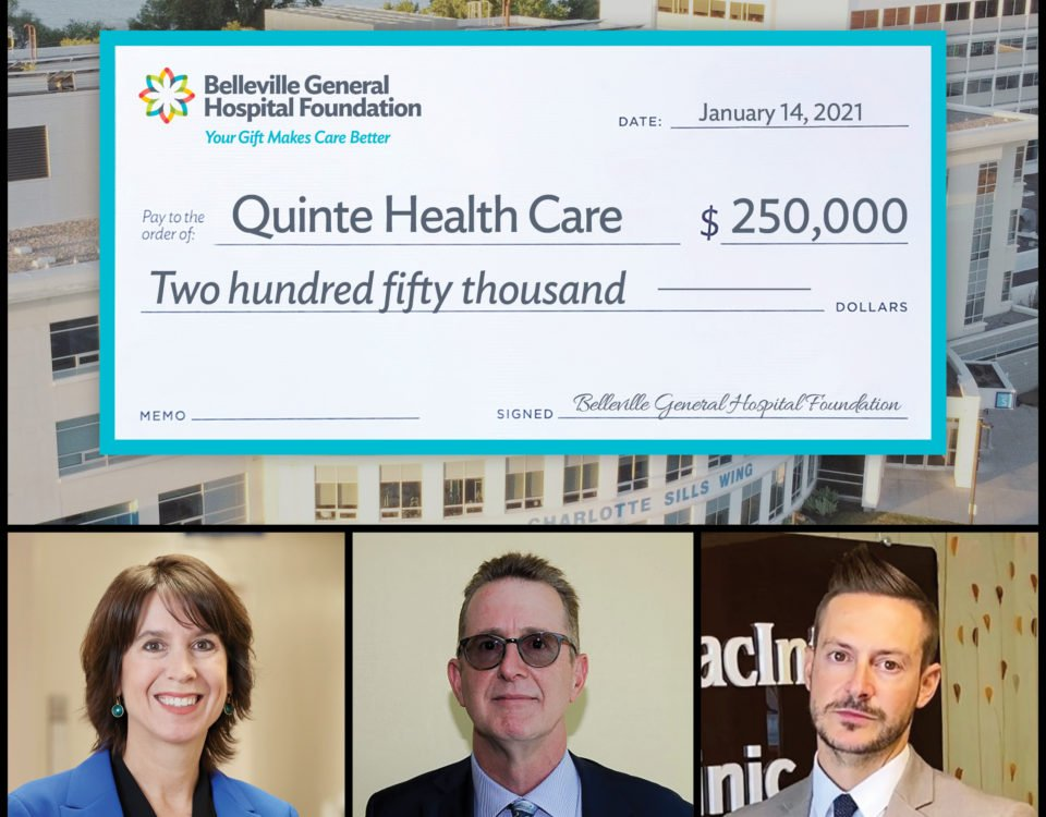 QHC's new President and CEO gets a warm welcome in the form of a cheque in support of BGH