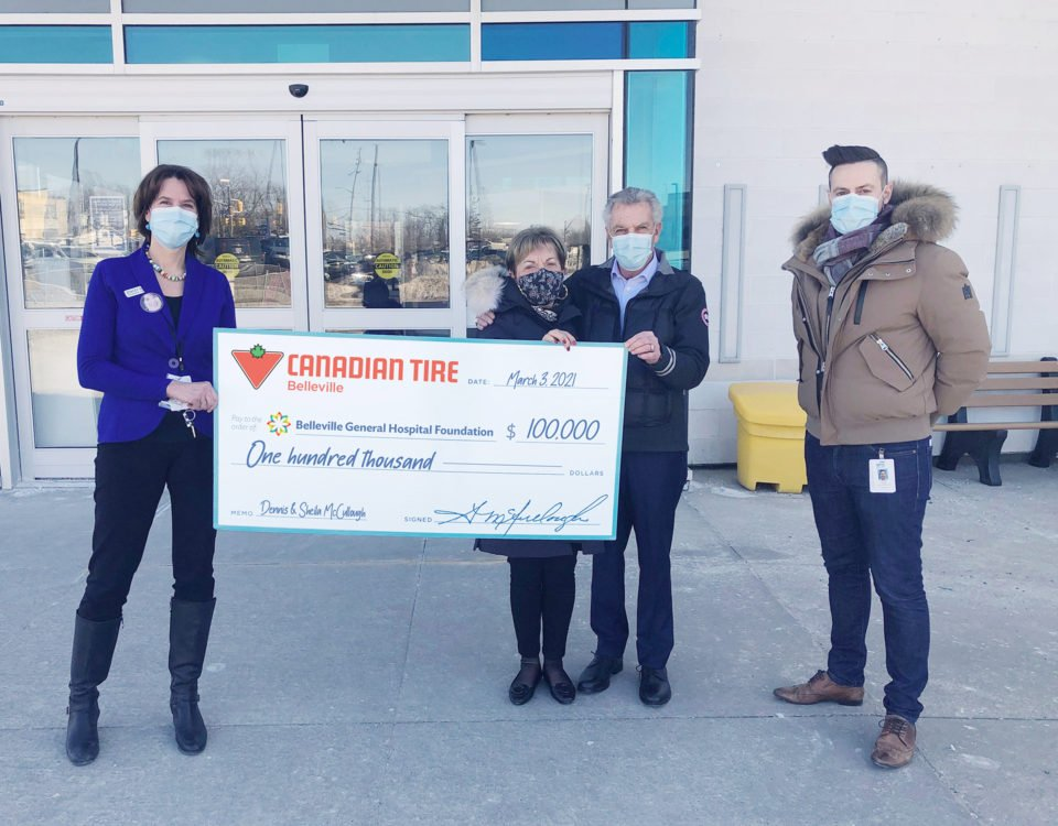 Canadian Tire Belleville Steps Up to Support $20m Hospital Campaign