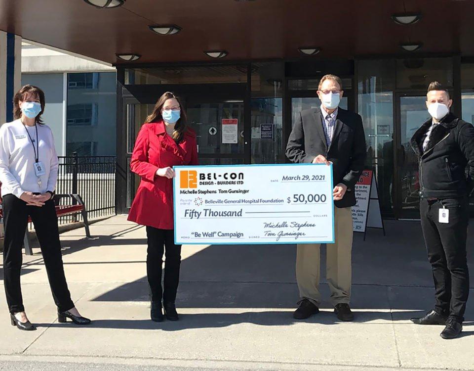 Bel-Con Design-Builders Ltd pledges to donate $50,000