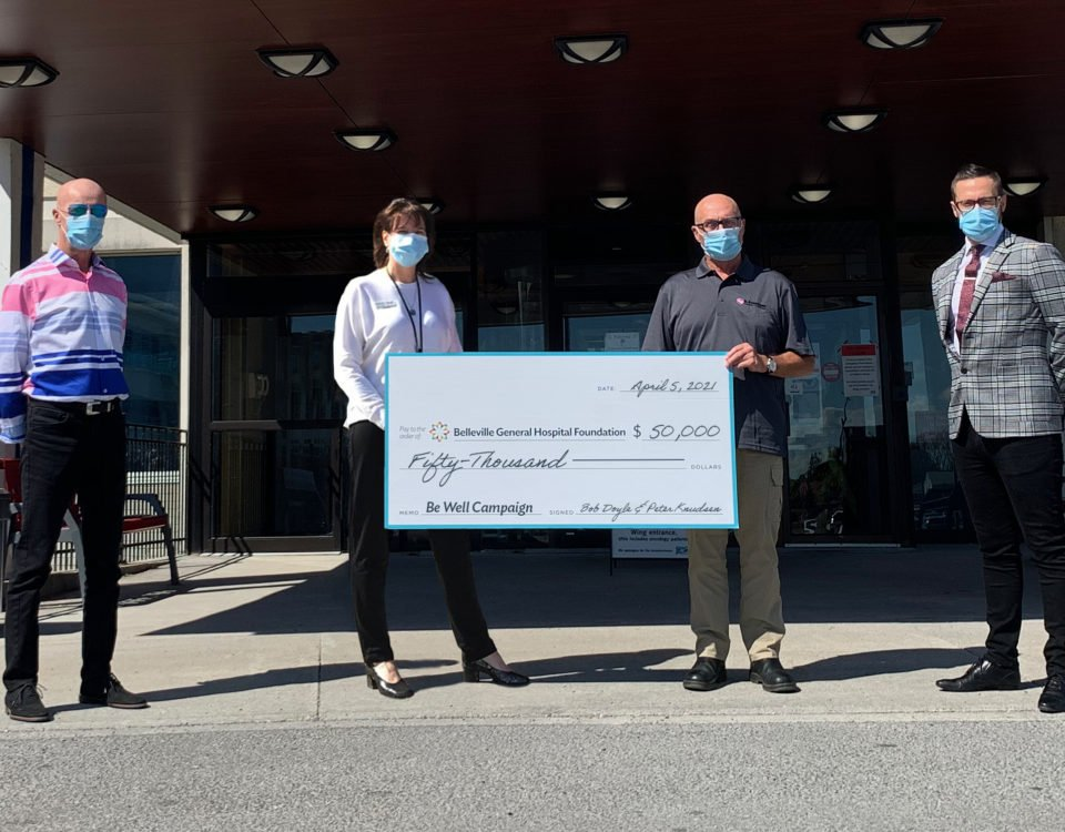 BGHF Board Directors Peter Knudsen and Bob Doyle donate a total of $50,000