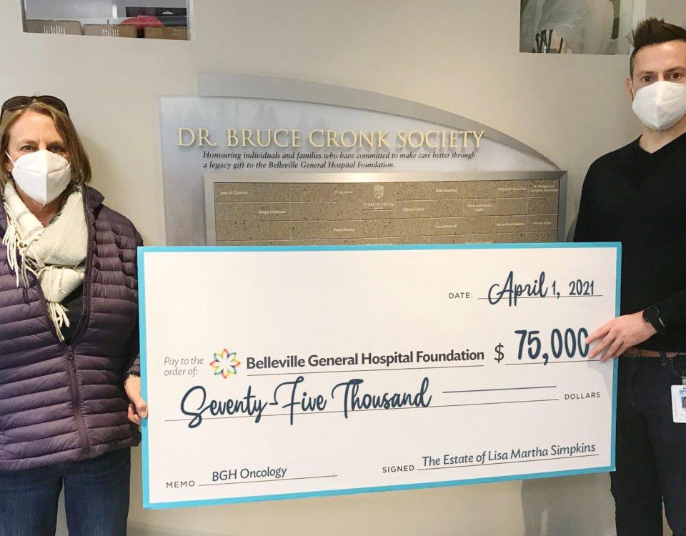 The late Lisa Martha Simpkins donates $75,000 to BGHF