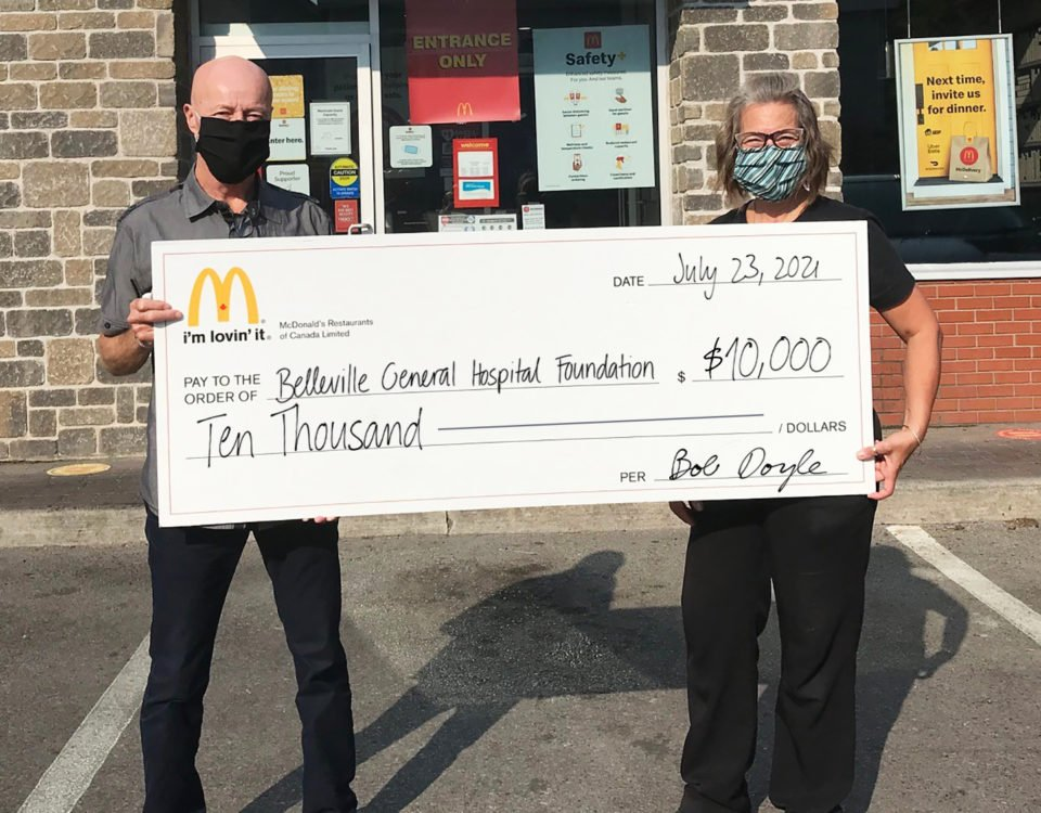 BGHF and McDonald's Feel the Community Love, Raising $10,000 for Nuclear Medicine Cameras at BGH
